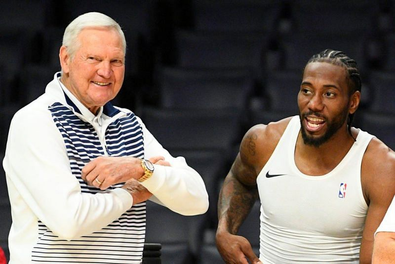 Jerry West and Kawhi Leonard