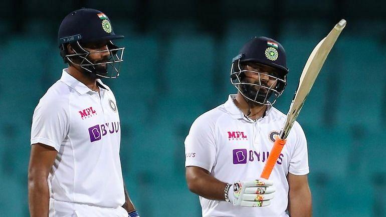 Hanuma Vihari(L) and Rishabh Pant(R) were in good form for India