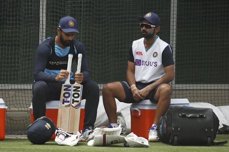 Stand-in captain Ajinkya Rahane during a practice session at the SGG.