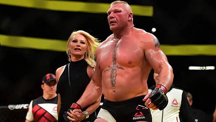 Brock Lesnar with wife Rena Marlette Greek aka