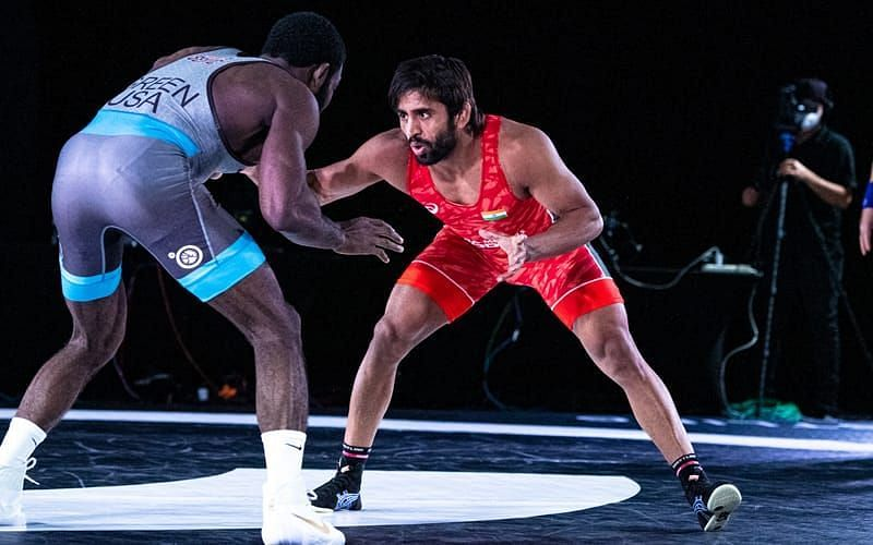 Bajrang Punia defeated James Green to win the $25,000 eight-man tournament.