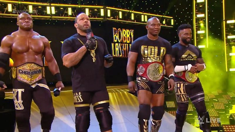 The Gold Standard with the rest of The Hurt Business, Raw 28/12/2020