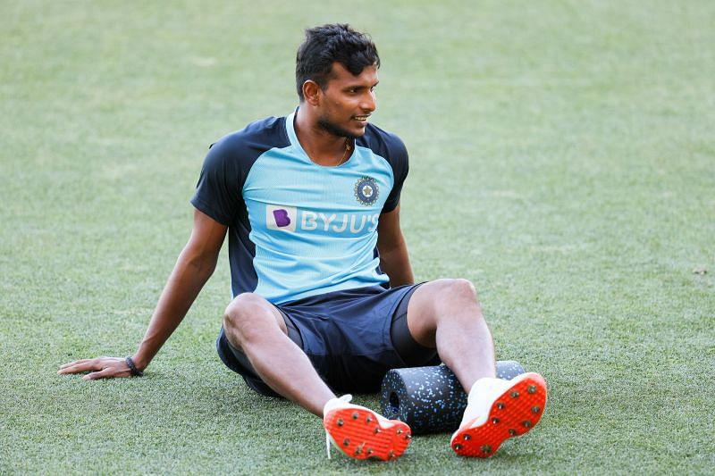 T. Natarajan is helping Team India as a net bowler for the Test series.