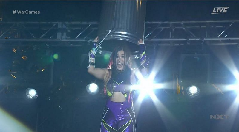 Io Shirai with a hilarious spot at NXT TakeOver WarGames