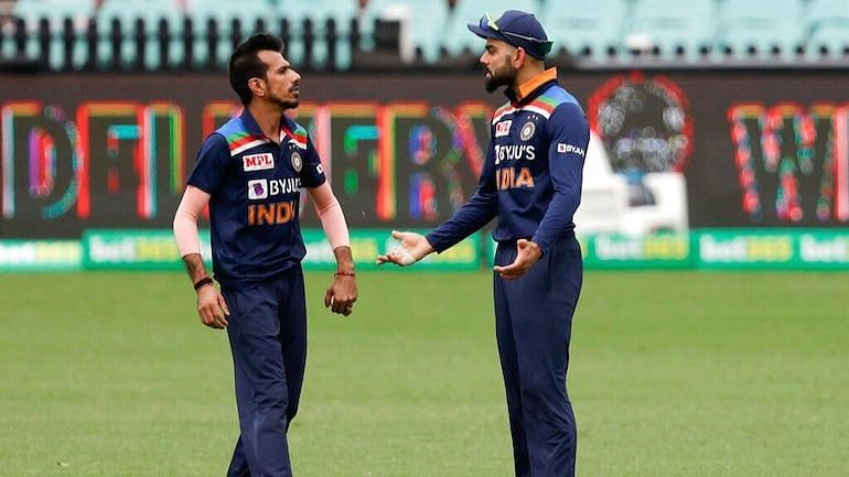 Chahal (L) delivered the goods for India.