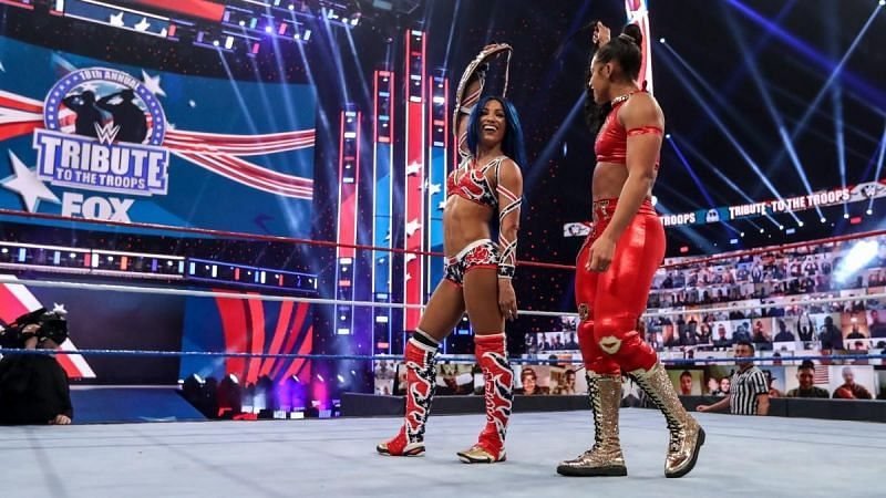 Sasha Banks and Bianca Belair teamed up recently