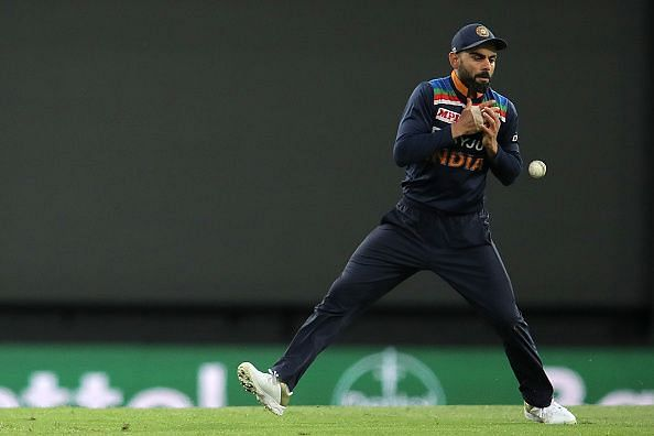 Virat Kohli in action during the second T20I on Sunday
