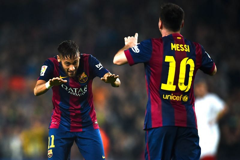 Neymar and Messi shared a great relationship on the pitch at Barcelona