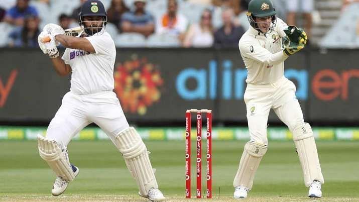 Rishabh Pant playing an aggressive knock. Photo source: India TV news