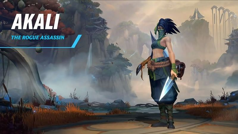 Overview of Akali in Wild Rift (Image via Riot Games)