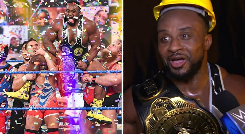 Big E reacts to his Intercontinental title win