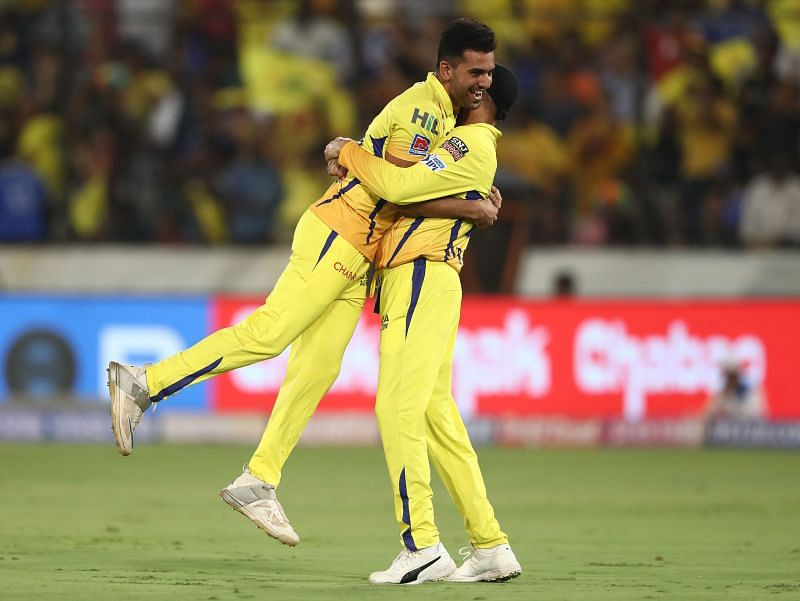 Deepak Chahar plays for the Chennai Super Kings in the IPL