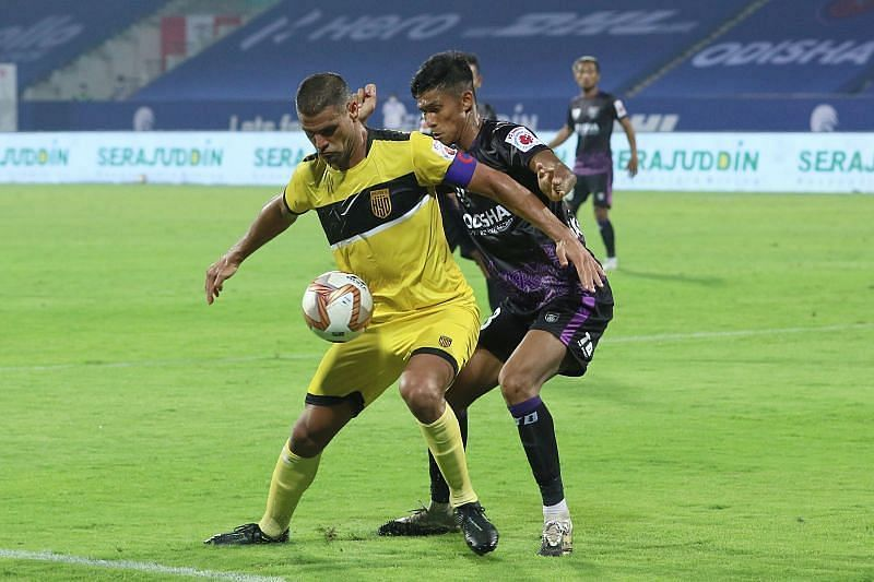 Aridane Santana is a key player in the Hyderabad FC attack (Courtesy - ISL)