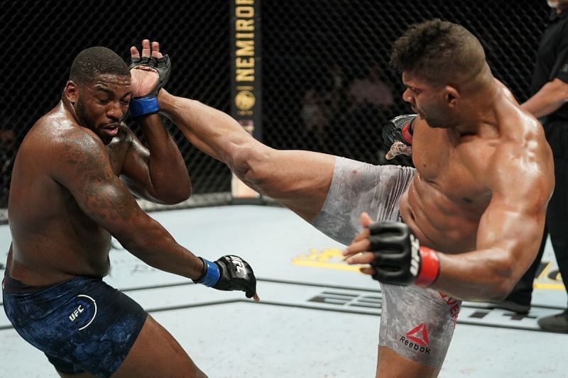 Alistair Overeem picked up two UFC wins in 2020, including this comeback over Walt Harris
