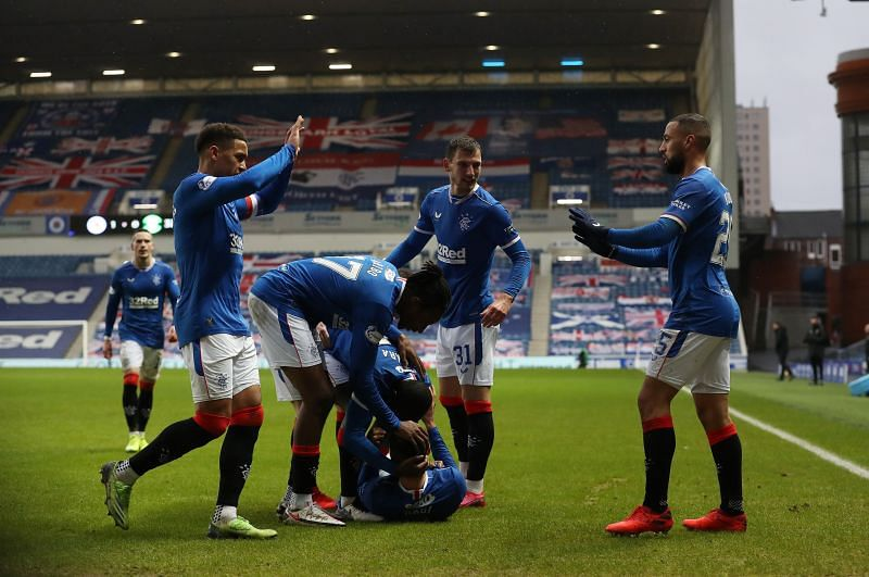Rangers in Scottish Premiership action