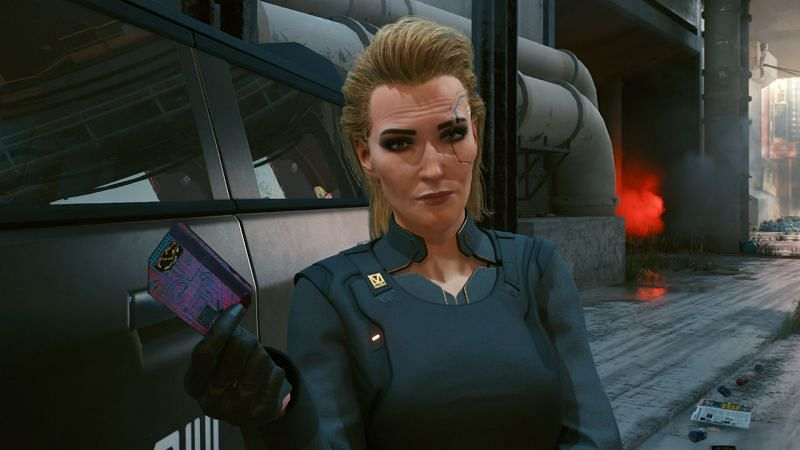 Meredith Stout is one of the potential NPCs V can indulge in a fling with, but no long term trysts are possible with her (Image via CD Projekt RED)