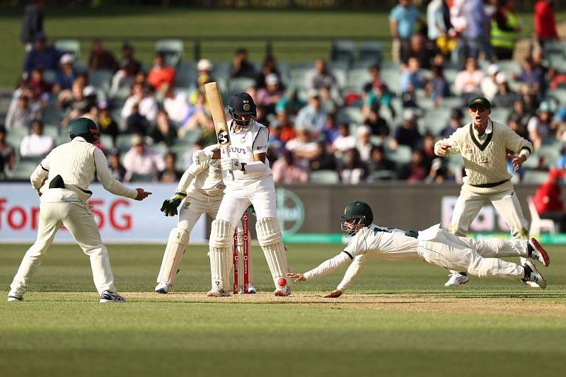 Cheteshwar Pujara scored 43 off 160 balls on 1st day.