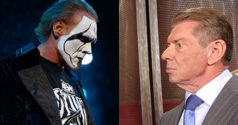 Sting and Vince McMahon.