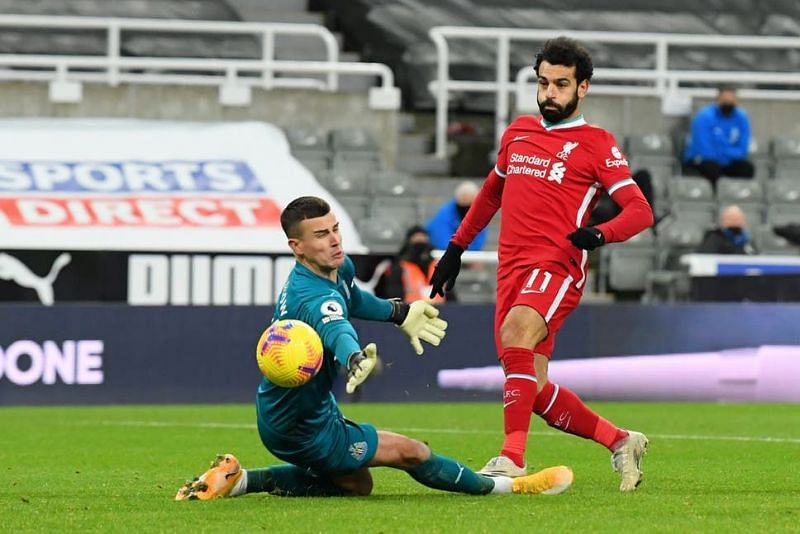 Mohamed Salah missed two great chances as Liverpool are held again.