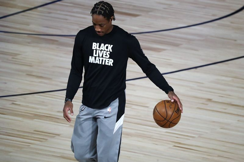 DeMar DeRozan of the San Antonio Spurs