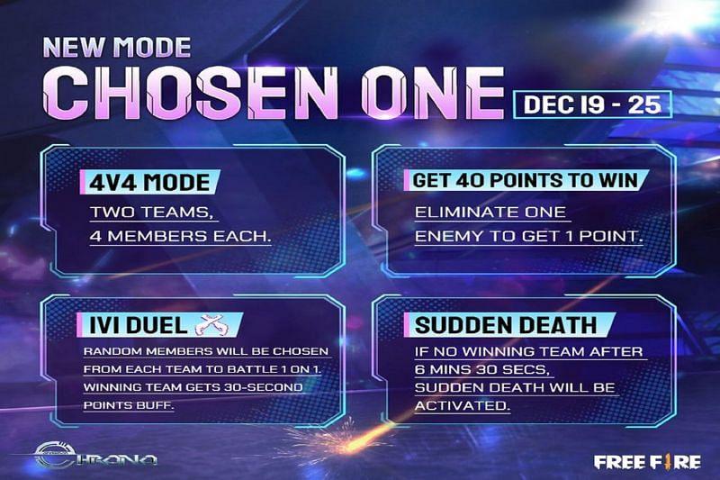 The new Chosen One mode (Image Via Free Fire/ Facebook)