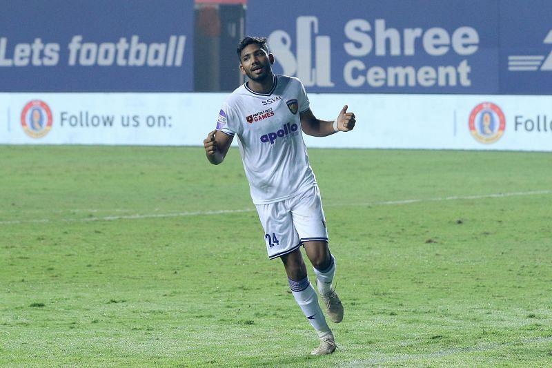 Rahim Ali has scored two goals for Chennaiyin FC this season (Image Courtesy: ISL Media)