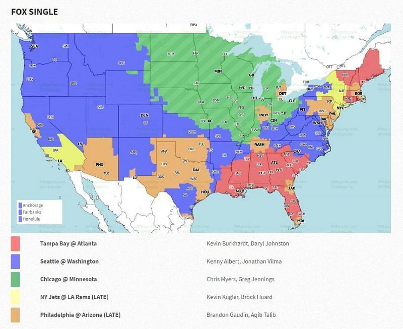 NFL Week 15 coverage map: FOX