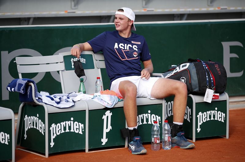 Dominic Stricker at the 2020 French Open