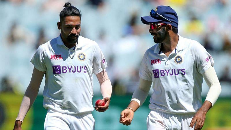 Jasprit Bumrah advising debutant Siraj during the Boxing Day Test