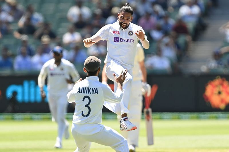 Mohammed Siraj claimed the wickets of Marnus Labuschagne and Chris Green on his Test debut.