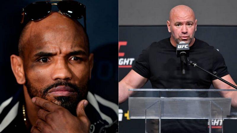 Yoel Romero (L) and UFC president Dana White (R)