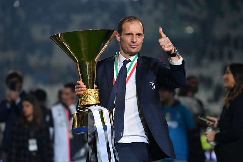 Allegri left the Juventus job on his own terms after winning a fifth consecutive Serie A title