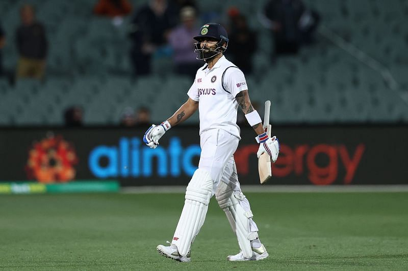 Virat Kohli was dimissed for an 8-ball 4 in the third innings