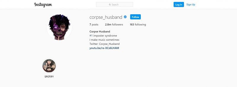 Corpse Husband can be found on Instagram at @corpse_husband