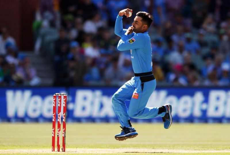 Rashid Khan struggled with the ball for the Adelaide Strikers