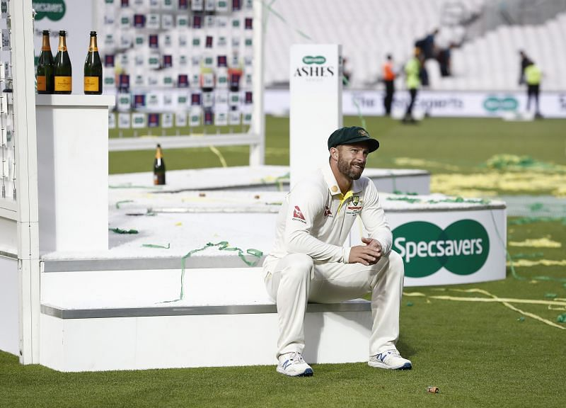 Matthew Wade soaking in Australia having retained the Ashes at Kia Oval in September 2019