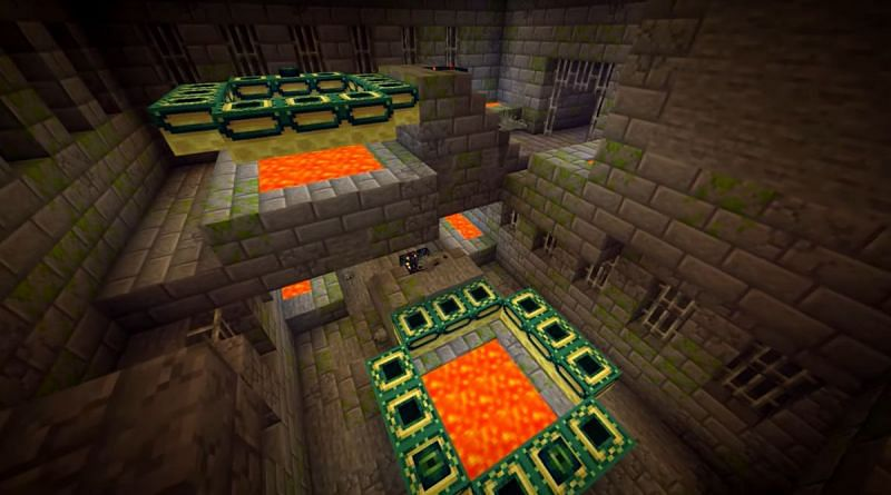 Two End Portals right next to each other in a Minecraft seed (Image via Minecraft & Chill/YouTube)