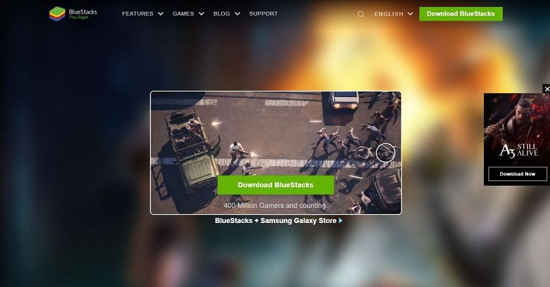 Official website of BlueStacks