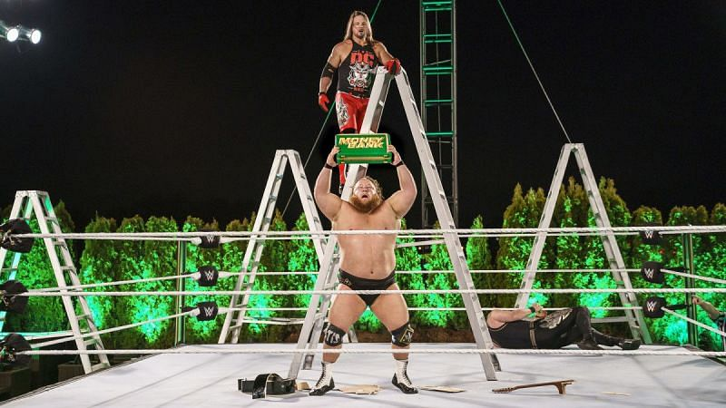 Otis won the six-man Money in the Bank ladder match