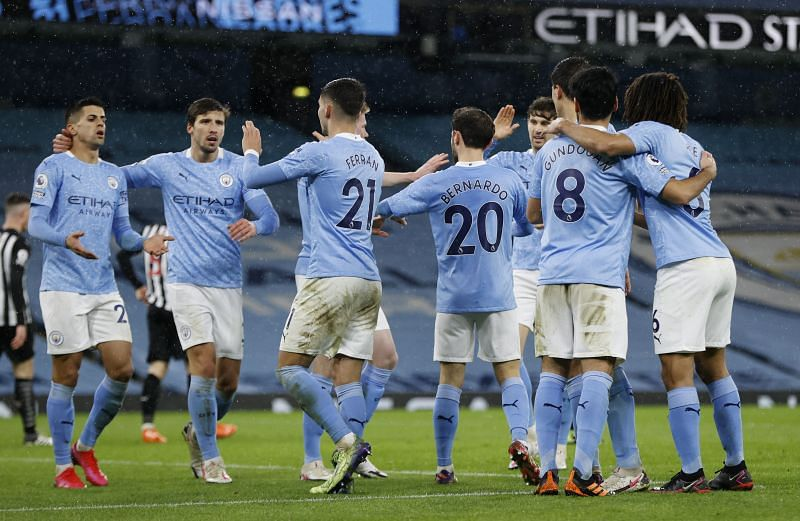 Manchester City play Everton on Tuesday