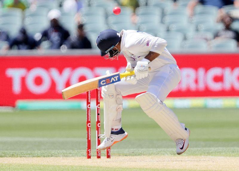 Mayank Agarwal, like most Indian batsmen, was hopping around at Adelaide