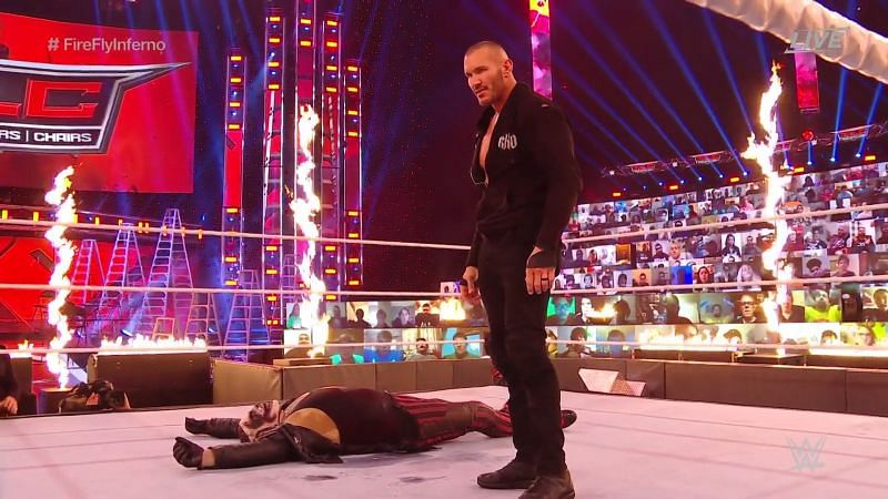 Randy Orton vs The Fiend ended with the latter being set on fire