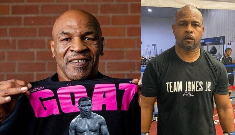 Mike Tyson (left); Roy Jones Jr. (right)