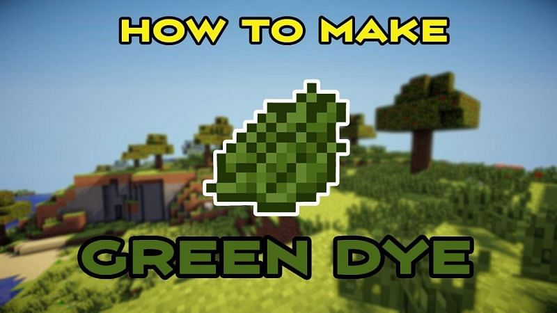 A comprehensive guide on how to craft green dye in Minecraft. (Image via GG00Gamer/YouTube)