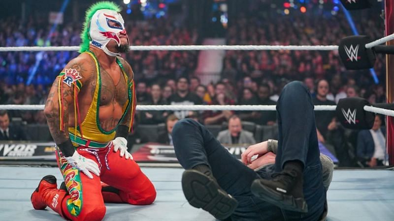 Rey Mysterio at Survivor Series 2019.