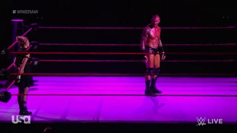 Alexa Bliss confronting Randy Orton