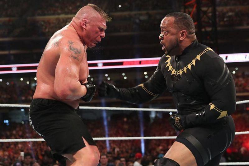 Brock Lesnar and MVP in WWE