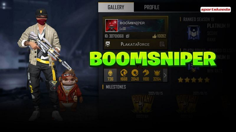 BoomSniper की Free Fire ID और स्टेट्स