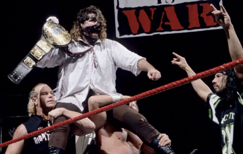 22 years ago today, Mick Foley defeated The Rock to become WWE Champion for the first time.