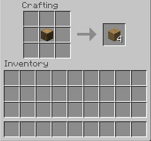 Crafting planks